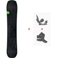 Snowboard Amplid Milligram Split 2020 + Fixations de splitboard + Peaux
