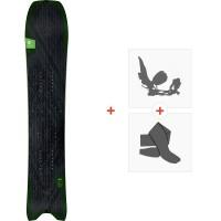Snowboard Amplid Millisurf Split 2020 + Fixations de splitboard + Peaux