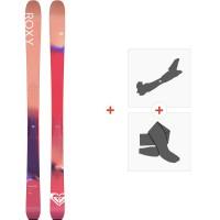 Ski Roxy Shima 90 2020 + Fixations de ski randonnée + PeauxRXSK20-SH90-FT