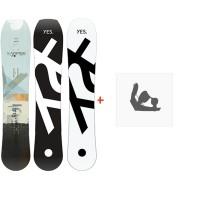 Snowboard Yes  Hybrid 2020 + Fixations de snowboard