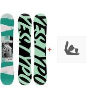 Snowboard Yes Typo 2020 + Fixations de snowboardSY200160