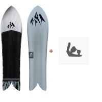 Jones Snowboard Mountain Surfer 2020 + Fixations de snowboardSJ200170