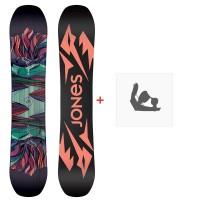 Jones Snowboard Twin Sister 2020 + Fixations de snowboardSJ200254