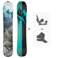Jones Splitboards Women'S Solution 2020 + Fixations de Splitboard + PeauxSJ200265