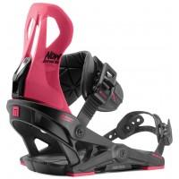 Fixation Snowboard Now Brigada Black/Pink 2020