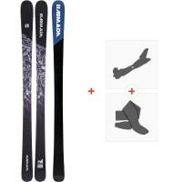Ski Armada Invictus 85 2020 + Fixations de ski randonnée + PeauxRA0000100