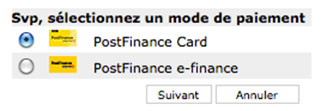 Paiement carte postfinance Steezone